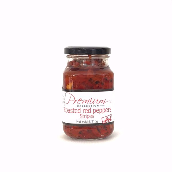 Premium Collection Roasted Red Peppers Strips Hot 315gr